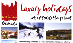 Lets Holiday Granada flyer design
