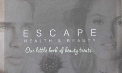 Escape Health & Beauty brochure design